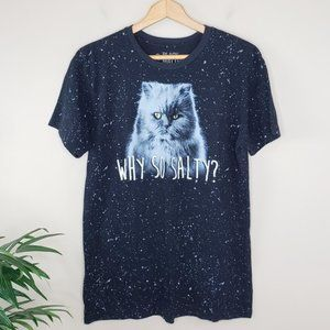 Black Matter | Why So Salty? Cat Graphic Tee
